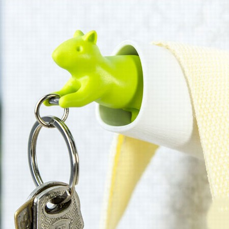 Egern nøgleholder - grøn og hvid