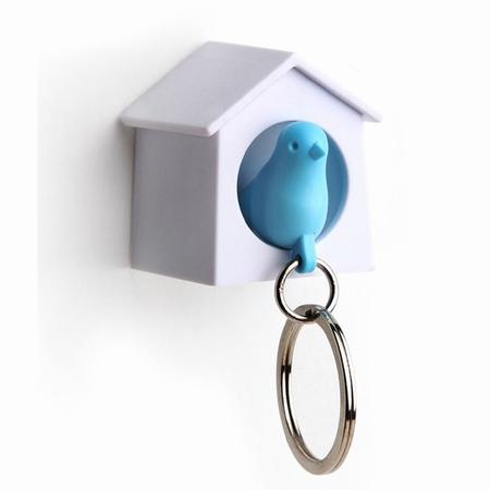 Nøgleholder i hvid og blå - small