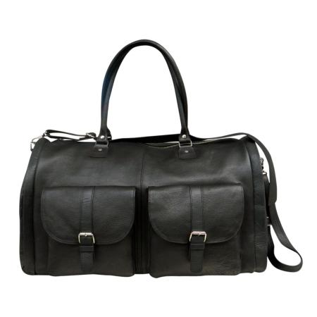 Rejsetaske - sort læder