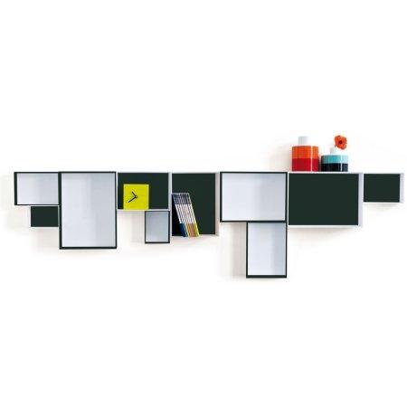 Kasser til væg   10 stk kasse   reolsystem og hylder til væg