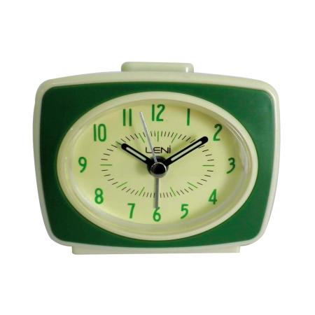 Grønt retro vækkeur