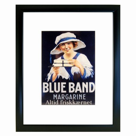 Retro billede - Blue band magarine