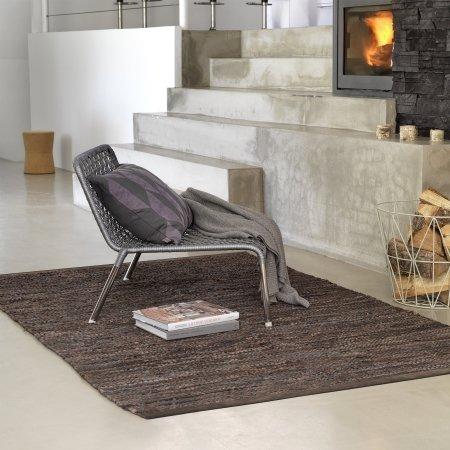 Rug Solid tæppe - brun 140x200 cm