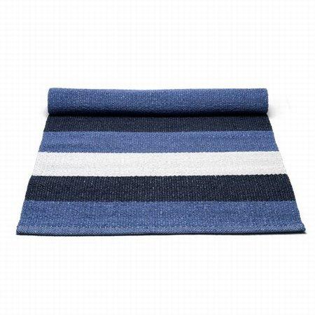 Plastik tæppe blå/hvid - 60x90 cm