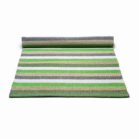 Plastik tæppe grøn/hvid - 60x90 cm