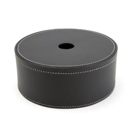 Runde læder box - large