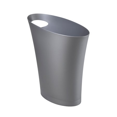 Skinny papirkurv - silver