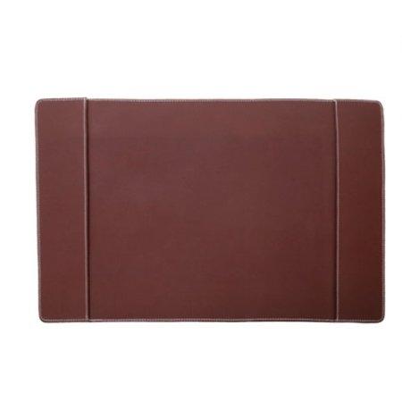 Skrivebordsunderlag - mørk brun læder