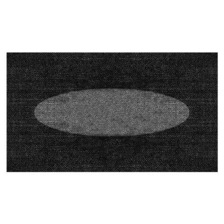 Elipse sort/grå dørmåtte 85x120 cm