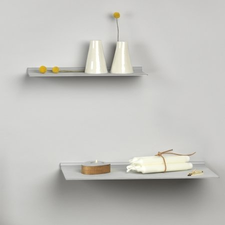 Slim Shelf i metallic læder - medium