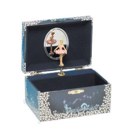 Smykkeskrin med ballerina - blå