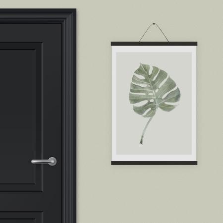 Plakat ophæng sort egetræ - large