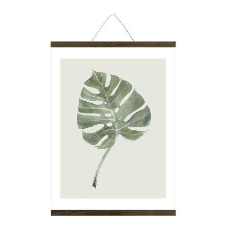 Plakat ophæng røget egetræ - large