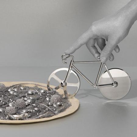 Cykel pizzaskærer - sølv