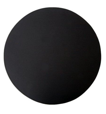 Læder dækkeserviet rund - sort