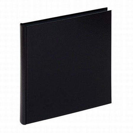 Sort fotoalbum med sorte sider