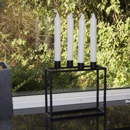 Sort metal lysestage - 4 lys