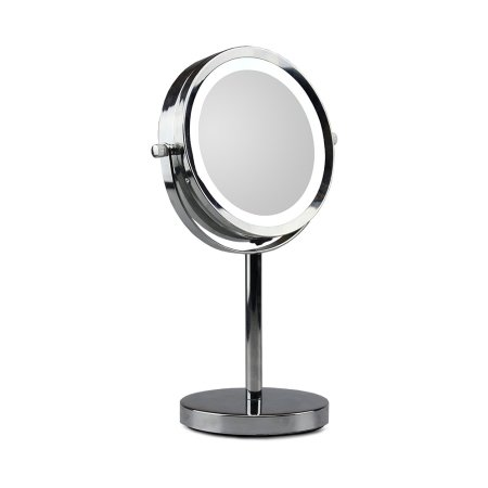 Spejl med lys p� fod