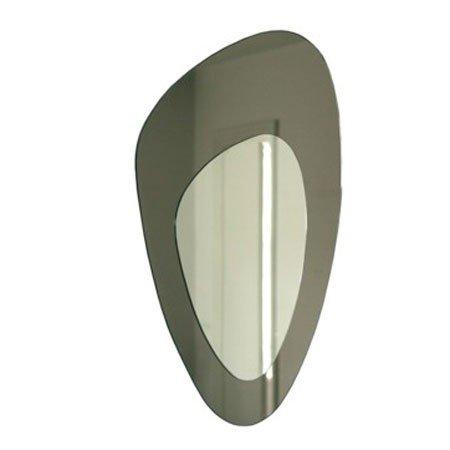 Spejl i grafit/sølv fra We