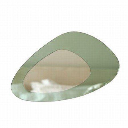 Spejl i grøn/sølv fra We