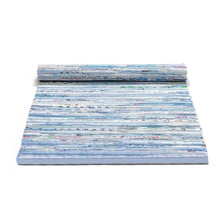 Rug solid tæppe - blå mix