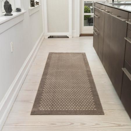 Dot tæppe sand - 67 x 200 cm