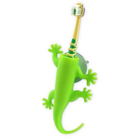 Tandbørsteholder - Larry the lizard - grøn