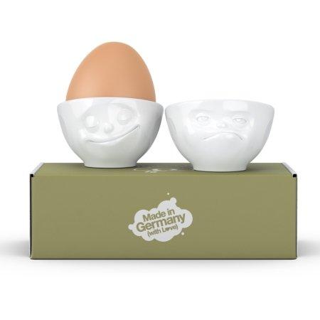 Tassen - æggebægre Happy og Hmpff
