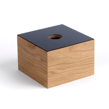 Træ box - egetræ/sort