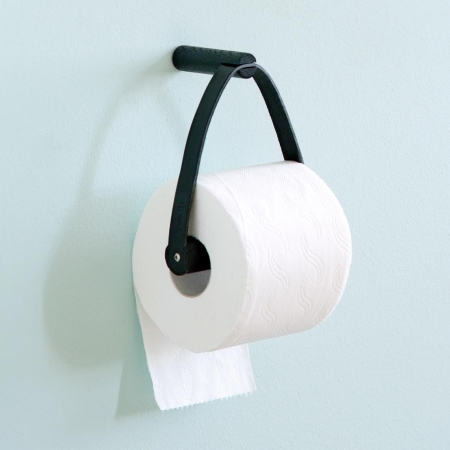 Toilet Paper holder i sort - By Wirth