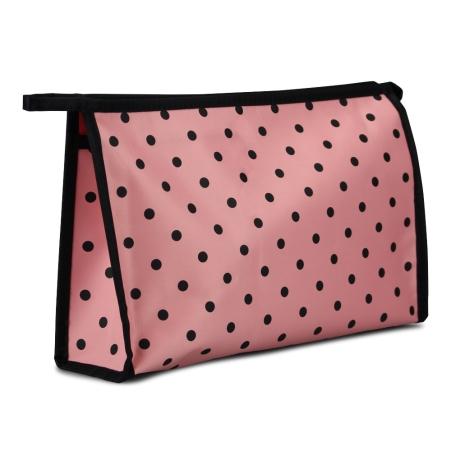 Toilettaske - rosa med prikker