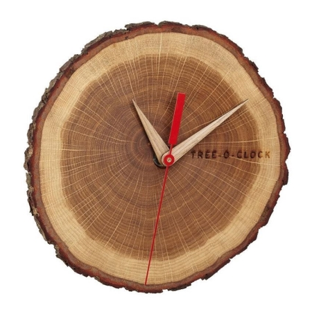 Tree O Clock vægur i træ