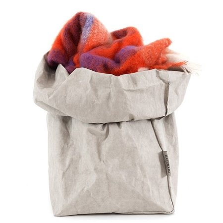 UASHMAMA Paper Bag - XL grå