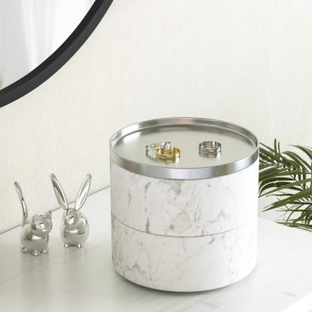 Tesora Box smykkeholder - hvid