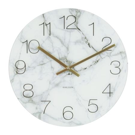 Vægur hvid marmor - 40 cm