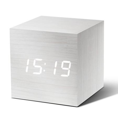 Vækkeur - Cube hvid