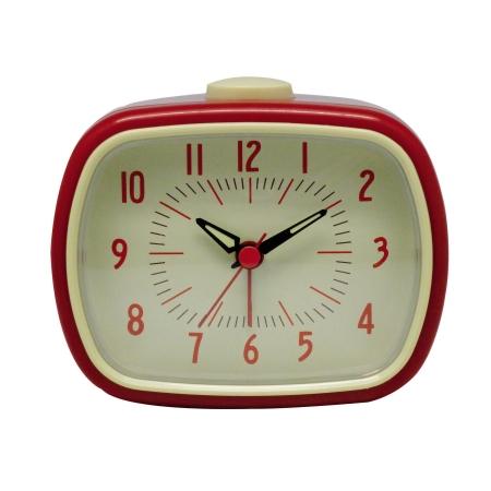 Retro vækkeur med alarm - rød