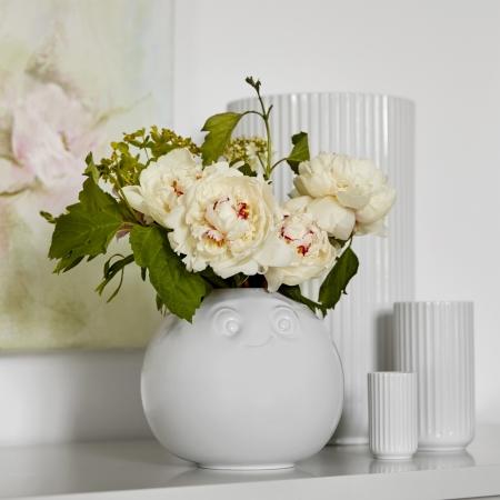 Rund vase med ansigt - Amused