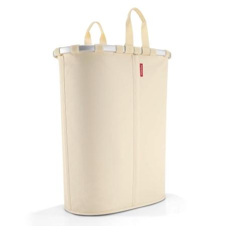 Oval vasketøjskurv - beige