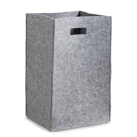 Vasketøjskurv i filt - lys grå