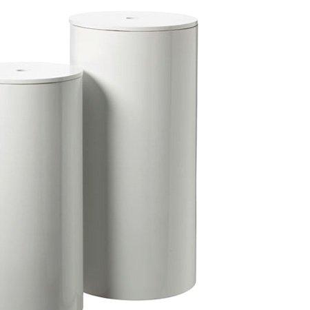 Vasketøjskurv hvid - large