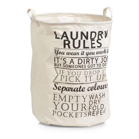 Vasketøjskurv - Laundry Rules