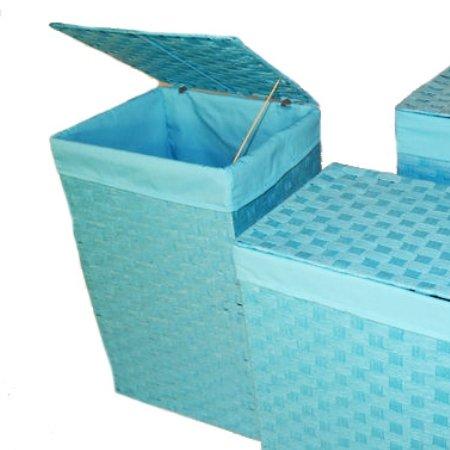 Vasketøjskurv turkis - mellem