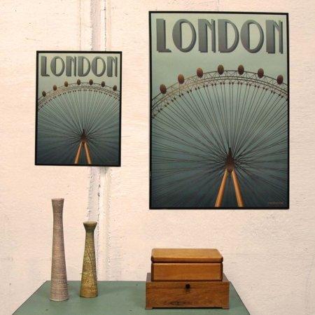 London Eye plakat - Vissevasse