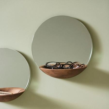 Spejl med hylde Pocket Mirror - large