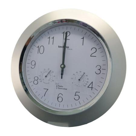 Radiokontrolleret vægur med termometer