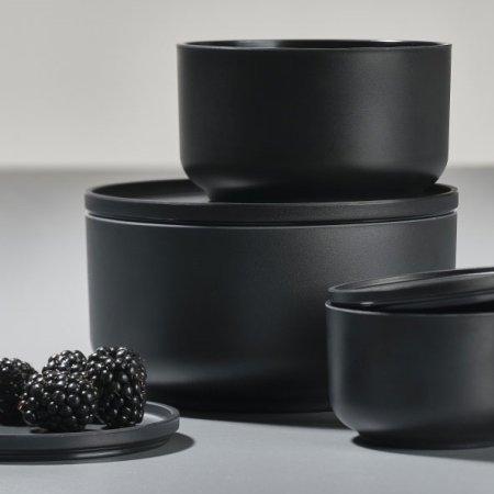 Peili skåle sorte - 3 stk.