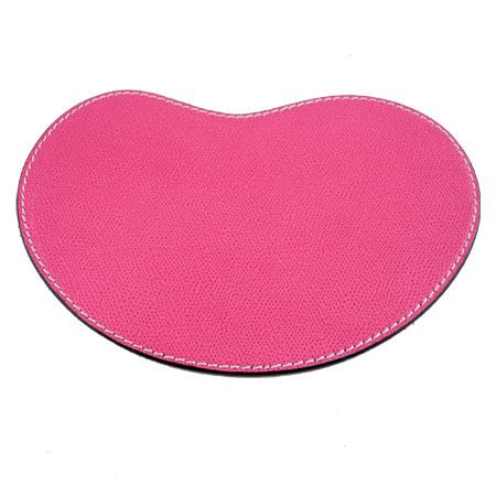 Musemåtte - lyserød læder