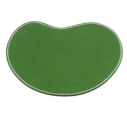 Musemåtte - grøn læder