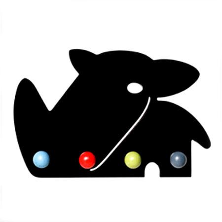 Otto - sort næsehorn knagerække